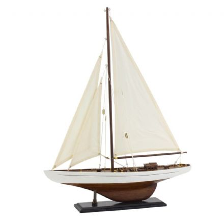 Medium Leonardo White Yacht Ornamental Display Piece Collectors